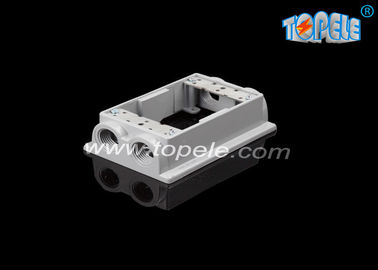 China 2 inch depth Weatherproof Electrical Boxes One-gang Flanged Extension Rings /four holes, Aluminum supplier