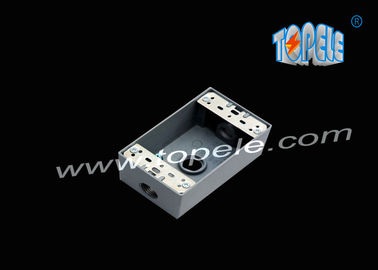 China Die-cast Aluminum Weatherproof Boxes 3 Holes / 5 Holes Single Gang Outlet Boxes Die Cast Metal supplier