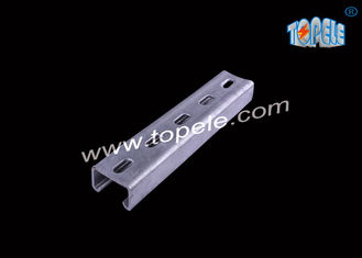 China 41x21mm 41x41mm  / Mild Steel Slotted Strut C Channel   And  U Channels supplier