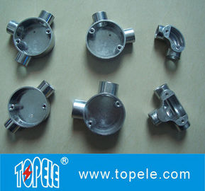 China TOPELE BS Two Way Through Circular Malleable Aluminum Junction Box, Galvanized Electrical Conduit Fittings supplier