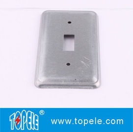 China TOPELE 20C5 Galvanized Steel Rectangular Flat Blank Device Switch Covers for Toggle Switch supplier