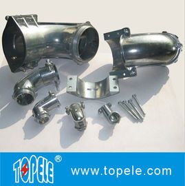 China Straight / 90 Degree Flexible Conduit and Fittings Metal Zinc Squeeze Angle Connectors supplier