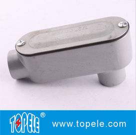 China LB Threaded Rigid Aluminum Conduit Body , EMT Conduit Body With Cover supplier