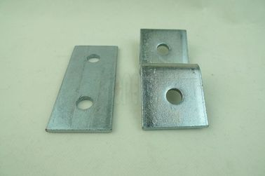 China Low-carbon Steel Flat Plate Unistrut Channel, Strut Channel Connecting Fitting with Holes supplier