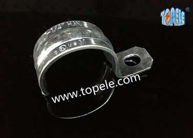 China Zinc Plated Steel EMT Conduit And Fittings With One-hole Clip / EMT Conduit Strap supplier
