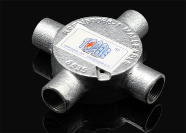"China 3/4""or 1""  Channel Inspection Elbow Tee Circular malleable iron Junction Box For Rigid Conduit supplier"
