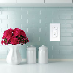 China LD -U001 4.2A Smart High Speed USB Charger Outlet 2 USB Ports With 2 Wall Plates supplier