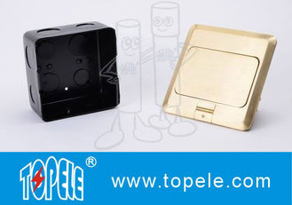 China OEM Square Panel Copper / GFCI Receptacles Round Aluminum Aloy POP-up Type Floor Socket supplier