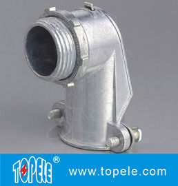 China 90 Degree Metal Zinc Flexible Conduit And Fittings Squeeze Angle Connectors supplier