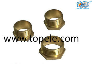China Brass Flex Metal Conduit Fittings Long / Short Male Threaded Hexagon Bush supplier