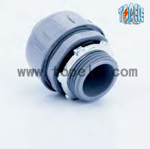 China Non Metallic Flexible Conduit Connector / PA6 Liquid Tight Straight Pipe Connector supplier