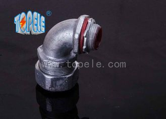 China Liquidtight Flexible Conduit And Fittings , 90 Degree Angle Connector Malleable Iron supplier