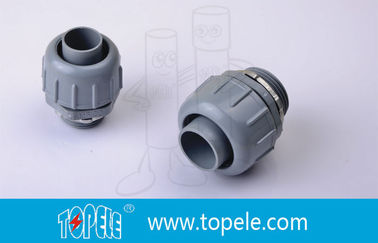 China PVC Plastic Flexible Conduit And Fittings Non Metallic Liquid Tight Connectors Straight supplier