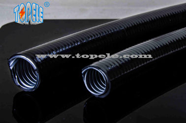 China corrugated flexible conduit Grey / Black PVC Coated Electrical Galvanized Steel Flexible Pipe supplier