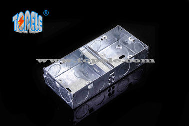 China BS4662 GI Switch One Gang / Two Gang Electrical Boxes And Covers, GI Conduit Boxes supplier