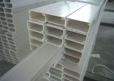 China White Grey PVC Electrical Cable Tray Lvd For Wiring Wire Duct supplier