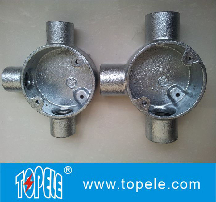 Electrical pipe bs tee way three malleable iron