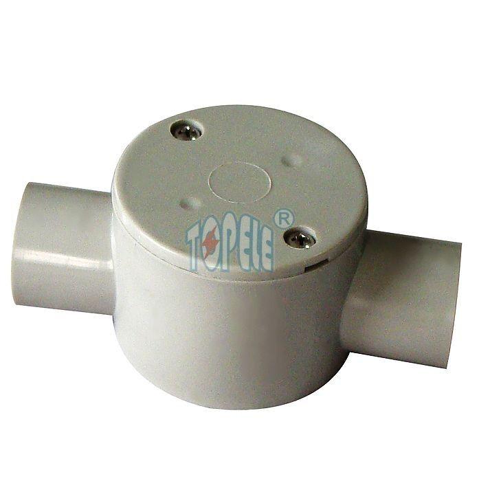 Bo te de jonction lectrique ronde de mani re de pvc 2 de garnitures de conduit de pvc australie - Boite de jonction electrique ...