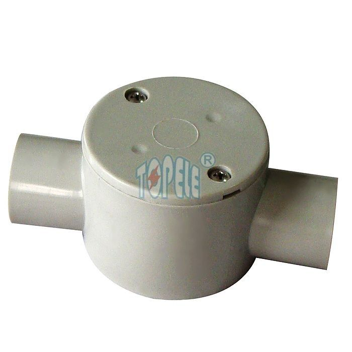 Round Electric PVC Conduit Fittings PVC 2 Way Junction Box Australia