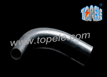 EMT 90 Degree / Pre-Galvanized Steel Conduit Pipe Fitting Elbow EMT Elbow / Metal Pipe Bends For Cable Routing