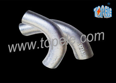 BS4568 Galvanized Steel Pipe Malleable Iron Intersection Elbow 20mm / 25mm