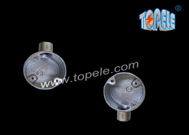 BS4568  Casting Malleable Iron Pipe Fittings/ 25mm Galvanized Terminal One-Way Box / Conduit Box