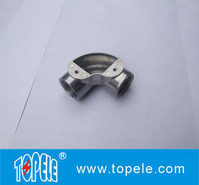 TOPELE BS Two Way Through Circular Malleable Aluminum Junction Box, Galvanized Electrical Conduit Fittings