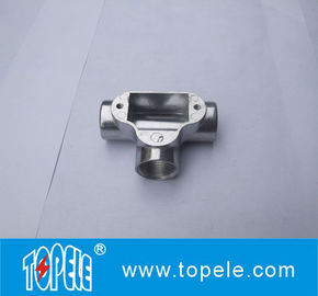 """3/4""""or 1"""" Three Way Channel Inspection Elbow Tee Circular Aluminum Junction Box For Rigid Conduit"""