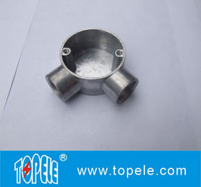 China TOPELE 25mm / 32mm BS Electrical Conduit Galvanized Aluminum Circular Junction Box For Conduit Fittings factory