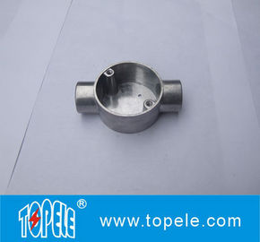 China TOPELE 20mm / 25mm BS4568 / BS31 Electrical Two Way Circular Angle Aluminum Junction Box, Electrical Conduit Fittings factory
