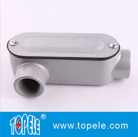 China 1 Inch Aluminum LR Type IP65 Threaded EMT / Rigid Conduit Body With Cover factory