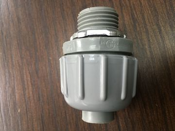 China PVC Plastic Non Metallic Liquid Tight Connector Straight ISO Certification factory