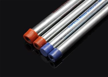 BS 4568 / BS 31 Hot Dip Galvanized Metal Conduit Pipe With Screwed Ends And Caps