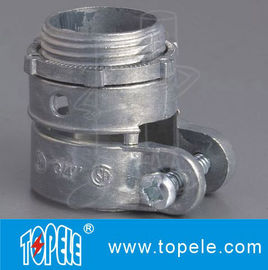 China Zinc Die Cast Flexible Conduit And Fittings Durable Quick - Snap Connector factory