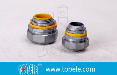 "China 4"" Flexible Conduit And Fittings Blue / Yellow Straight Liquid Tight Connector factory"