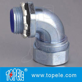 China Liquid - Tight Flexible Conduit And Fittings Steel Connector 90 Degree Angle factory