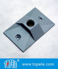 China Three Holes Electrical Weatherproof Rectangular Covers Aluminum Gaskets & Screws factory