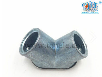 China Durable Electrical Conduit Connectors For Zinc Die Cast EMT To EMT Pull Elbow factory