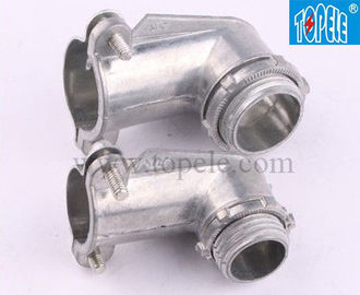 China 90 Degree Metal Zinc Flexible Conduit And Fittings Squeeze Angle Connectors factory