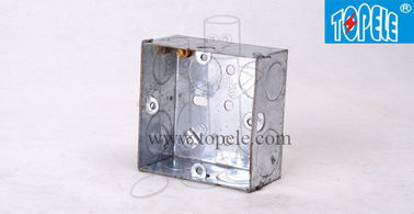 China Pre - Galvanized Steel Electrical Boxes And Covers British Standard BS Box For Switches factory