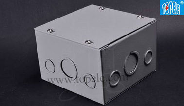 China Steel Electrical Boxes And Covers Cable Switch Enclosures , Outdoor Conduit Junction Box factory