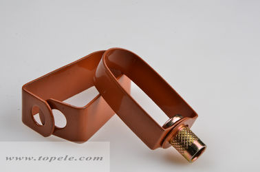 Copper Epoxy Coated Steel Pipe Clamps Swivel Loop Hanger / Swivel Ring