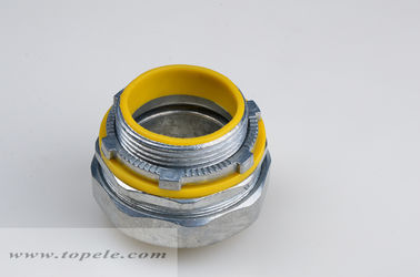 "1/2"" - 4"" Zinc Liquid Tight Straight Connector With Yellow / Blue Gasket"
