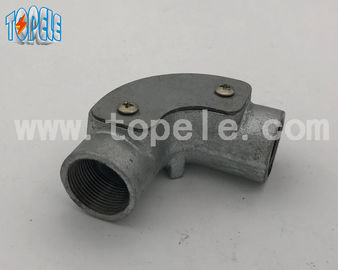 China Durable BS4568 Metal Conduit Connectors Malleable Iron Channel Inspection Elbow factory