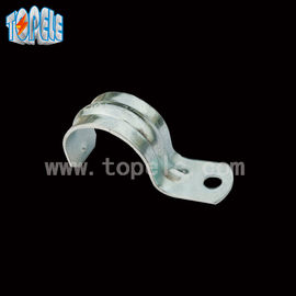 China Zinc Plated Steel EMT Conduit And Fittings With One Hole Clip / Emt Conduit Straps factory