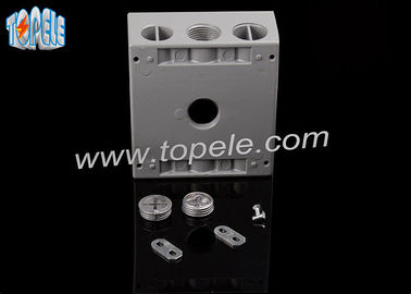 Rectangle Aluminum Electrical Box , Switch Electrical Box Outdoor