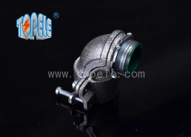 Flexible Conduit and Fittings Metal Zinc Squeeze Angle Connectors / 90 Degree Steel Squeeze Connector