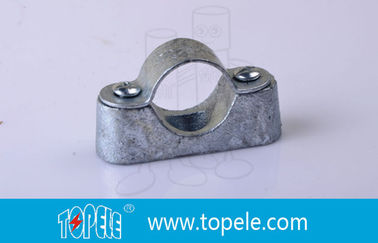 China BS31 / BS4568 Conduit Fittings 20mm Malleable Iron Heavy Duty Distance Saddle With Base factory