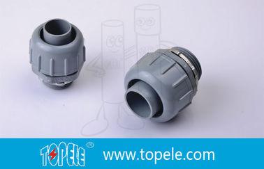PVC Plastic Flexible Conduit And Fittings Non Metallic Liquid Tight Connectors Straight