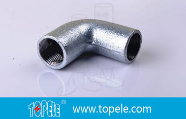 China BS4568 Conduit Fittings 25mm  Malleable Iron Solid Elbow , 90 Degree Pipe Bent factory
